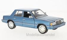 Plymouth Reliant, metallic-blau, 1983 - 1:24 Motormax  *NEW*