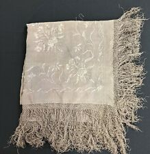 Antique Grey Embroidered Piano Scarf