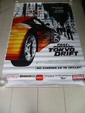 AFFICHE THE FAST AND THE FURIOUS TOKYO DRIFT 4x6 ft Bus Shelter Poster 2006