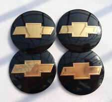 "4x 56mm 2.2"" Auto Car Wheel Center Cap Emblem Decal Sticker for Chevy Black"