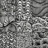 LUNN FABRICS BATIK BLACK & WHITE CURVY 9 FAT QUARTERS BUNDLE FAT QUARTER