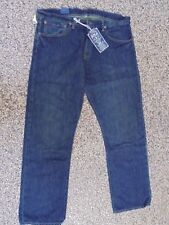 Men's NWT RALPH LAUREN POLO Classic 867 Dark Wash Blue Jeans 38 x 32