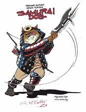"TEENAGE MUTANT NINJA TURTLES ""Samurai Dog"" Concept Art SIGNED E McCarthy 8.5x11"