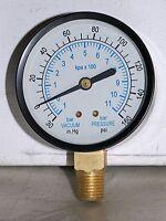 """-30"""" HG VAC/160 PSI  2.5"""" Dial 1/4"""" NPT PRESSURE GAUGE"""