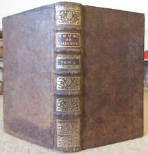 ELIE COL DE VILLARS COURS DE CHIRURGIE TRAITES LUXATION & FRACTURE 1749 MEDECINE
