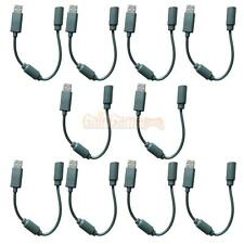 LOT 10 Wired Controller USB Breakaway Cable Adapter For XBOX 360 USA