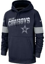 New Nike 2019 Dallas Cowboys Sideline Team Logo Performance Hoodie Sweatshirt