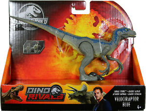 Jurassic World ~ SAVAGE STRIKE VELOCIRAPTOR BLUE ACTION FIGURE ~ Dino Rivals