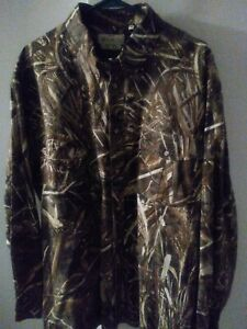 Mens Beretta,  Shooting Shirt, Max 4 Reeds Camouflage, XL .