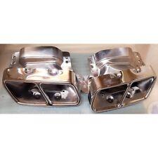 Steel Rear Exhausts Muffler TIP Tailpipe For Mercdes BENZ W221 S-Class 07-13