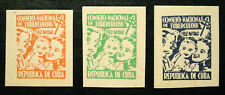 1956, Latin America, Tb Charity Seals, Mother, Child & Father, 3 Seals, Mnh
