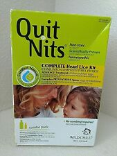 Hylands Quit Nits Non-Toxic Natural Complete Head Lice Kit Combo Pack SEALED NOS