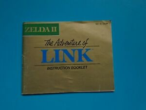 Zelda II: The Adventure of Link (Nintendo NES) Authentic Game Manual Book