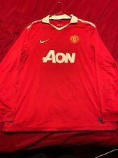 Nike Manchester United AON 2010-2011 Long Sleeve Dri-Fit Jersey Size 2XL MUFC