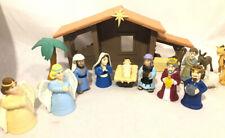 Bible Toys The Nativity 18 Piece Playset Baby Jesus Mary Joseph Animals Angels