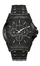 Bulova Classic Men's Quartz Multifunction Black Bracelet 43mm Watch 98C121
