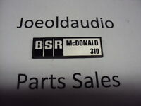 BSR McDonald 310 Original Turntable Logo. Parting Out BSR McDonald 310 Turntable
