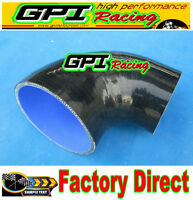"90 Degree 76mm-102mm 3"">4"" Silicone Elbow Reducer Hose INTAKE INTERCOOLER PIPE"