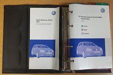 GENUINE VW GOLF HANDBOOK OWNERS MANUAL WALLET 2004-2008 PACK F-47
