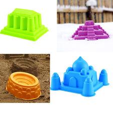 4 PCS World Architecture Pyramid Taj Mahal Molds for Beach Sand Snow Kids Play