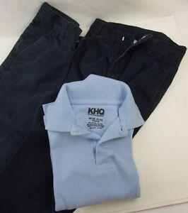 Boy's School Uniform BLUE - M Shirt long sleeve & 2x Chaps Pants 4 Regular