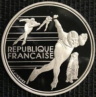 FRANCE 100 FRANCS ALBERTVILLE 92 PATINAGE DE VITESSE 1990 ARGENT