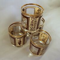 Vintage Glasses Roaring Twenties Set of 4 Lowball Silent Film Actors Peek a Boo