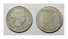 ESPAÑA. ISABEL II.  40 CENTIMOS DE ESCUDO 1865 SEVILLA.   BC+