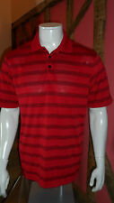 Medium Size Red with Black Hoops Short Sleeve Polo Shirt by Champion