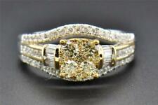 14k White Gold 0.98 Ct Round Baguette Cut Diamond Ring