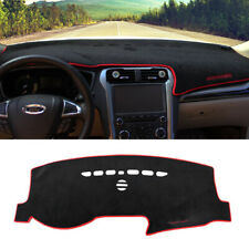 Black w/Red Rim Car Dashboard DashMat Non-Slip Decor Pad For 2013-18 Ford Fusion
