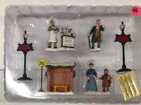6 Rare Lemax Christmas Village Mistletoe Road Lamppost Elixer Bus Stop Figurine