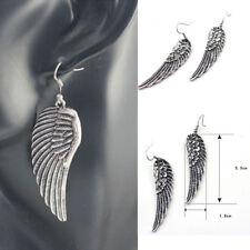 Retro Rhinestone Fashion Drop Dangle Jewelry Angel Wings Earrings Tibet Silver