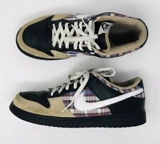 wholesale dealer f4c31 974cf NIKE DUNK LOW CL 304714-017 Mens Size 12 Plaid Tweed Sneakers Skateboarding