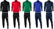 adidas Men's Full Tracksuit Set Top Jacket Bottom Pants Sport Football Full Zip