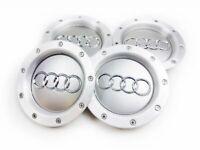 4x 146mm AUDI Wheel Centre Caps Hub Cover Gray 8D0601165K