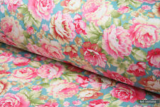 """Vintage Dress Material Floral 100% cotton fabric sold by meter 63""""width 1605056"""