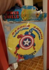 Vintage Captain America Power Shield 1976 Marvel Mania Funstuf New MIB