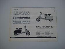 advertising Pubblicità 1962 LAMBRETTA 125/150 LI