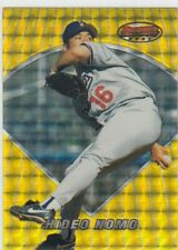 HIDEO NOMO BOWMAN'S BEST ATOMIC REFRACTOR GOLD DODGERS METS RED SOX #1 1996 96