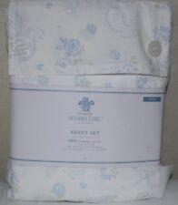 Rachel Ashwell Simply Shabby Chic Twin Sheet Set Vtg Cottage Blue Roses Paisley