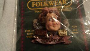 Boyd Bears Friends Wearable Pin Folk Art 1995 New Fairy Soap Never Done Wrapped