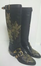 Worn once!Chloe Susanna studded knee boots.black.uk 3/36 (fits uk 4/37).£1340