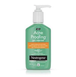 New NEUTROGENA Acne Proofing Gel Cleanser 6 fl. oz. each - Lot of 2