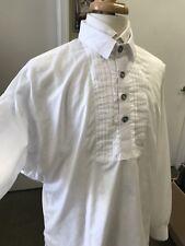 "Man's White Cotton Dress Shirt - Civil War, 19th century, Re-enacting - XXL 52"""