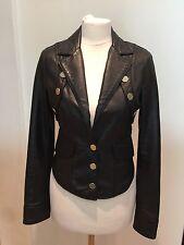 Celin B montato sulla spalla imbottito giacca in pelle morbida