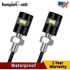 Universal Motorcycle Car 5730 SMD LED License Plate Light Screw Bolt Lamp Bulbs