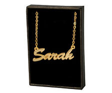 SARAH 18ct Gold Plating Necklace With Name - Stylish Appreciation Custom Made