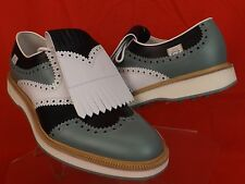 NIB GUCCI MULTI COLOR REMOVABLE LEATHER FRINGE BROGUE GOLF OXFORDS 11 12 #368438