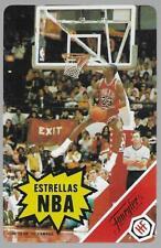 1988 Fournier Estrellas Michael Jordan Rules Card Chicago Bulls NM/MT